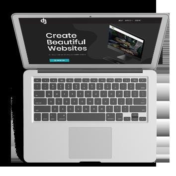 A macbook screen showing an image